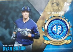 2017 Topps  Ryan Braun Jackie Robinson Commemorative Patch