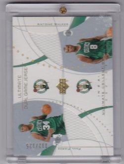 2002-2003 Upper Deck Ultimate Dual Jerseys Paul Pierce / Antoine Walker