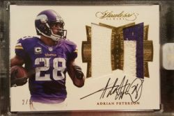 2016 Panini Flawless Adrian Peterson Dual Patch Auto