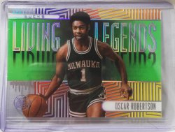 2019 Panini illusions Oscar Robertson Living Legends emerald