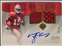2009 Upper Deck Ultimate Collection  Ultimate Futures Autograph Jerseys #FSJMC Michael Crabtree /20
