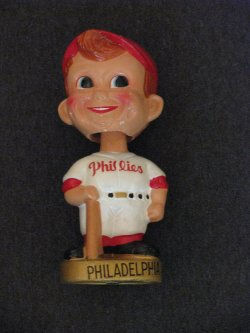 1967  Philadelphia Phillies Gold Base Bobblehead