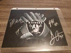 Oakland Raiders Logo 8x10 Photo IP Autographs