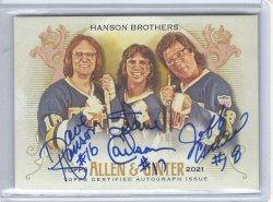 2021 Topps Allen & Ginter Hanson Brothers (Slapshot) Triple Autograph