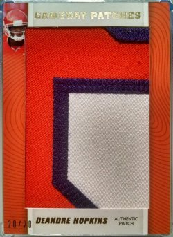 2013 Press Pass Showcase DeAndre Hopkins gameday jumbo patches