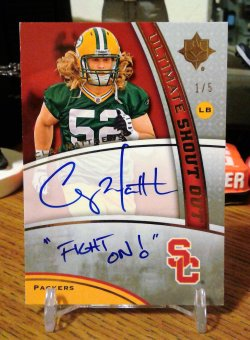 2009 Upper Deck Ultimate Collection Ultimate College Shout Out Clay Matthews