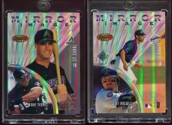 1997  Bowmans Best Mirror Image Refractor Inverted  Frank Thomas Jeff Bagwell Derek Lee Travis Lee
