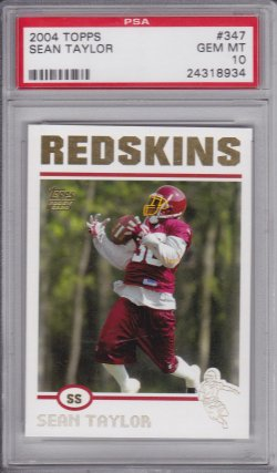 Sean Taylor 2004 Topps Collection RC PSA 10