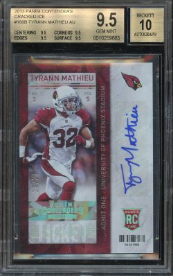 2013 Playoff Contenders Cracked Ice Rookie Ticket Tyrann Mathieu