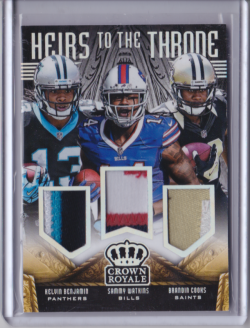 2014 Panini Crown Royale Heirs to the Throne Materials Trios Prime w/ Cooks Watkins Kelvin Benjamin