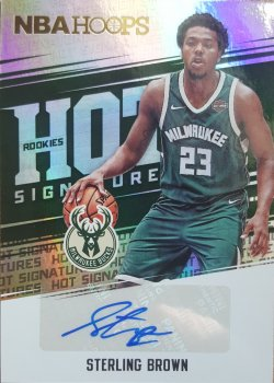 2017-18 Panini Hoops Sterling Brown RC Auto