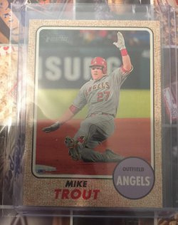 2017 Topps Heritage Action Variation Mike Trout