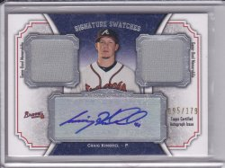 Craig Kimbrel 2012 Topps Museum Collection Signature Swatches Dual Relic Autographs /179