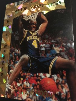 1993  Sports Review  Top Draft Pick CHRIS WEBBER  1of5000 Michigan Wolverines 1st OverAll Pick
