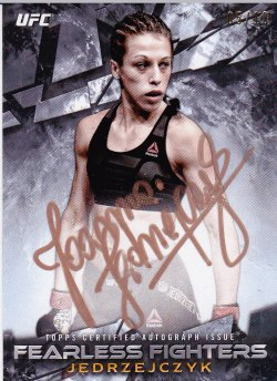 2017 Topps UFC Knockout Fearless Fighters Autographs Copper Ink Joanna Jedrzejczyk