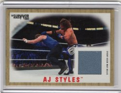 2017 Topps WWE Heritage SS Relic AJ Styles