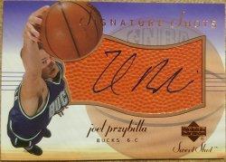 2001-02 Upper Deck Sweet Spot Joel Przybilla Signature Shots