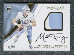 2017 Immaculate Collection Collegiate #114 Mitchell Trubisky JSY AU/99 RC