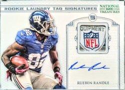 2012 Panini National Treasures Rueben Randle laundry tag signatures