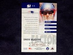 2000 Donruss Quantum Leaf Star Factor Drew Bledsoe #SF11 Back