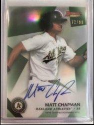 2015 Bowman Best of 15 Green Refractors Matt Chapman