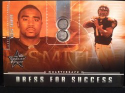 2007 Leaf Rookies & Stars Troy Smith rookie facemask