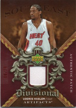 2007-08 Upper Deck Artifacts Haslem, Udonis - Divisional Artifacts Patches Red #