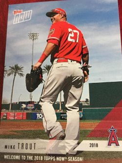 2018 Topps NOW   MIKE TROUT 2018  Los Angeles ANGEL AllStar MVP CF