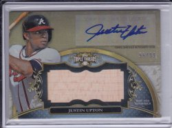 Justin Upton 2013 Topps Triple Threads Unity Relic Bat and AUTO /99
