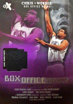 2001-02  E-X Box Office Draws Memorabilia Chris Webber Warm