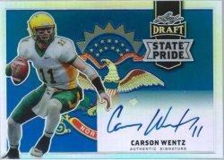 2016 Leaf Metal Draft Carson Wentz State Pride Auto