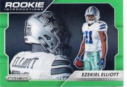 2016 Panini Prizm Ezekiel Elliott Rookie Introductions Green