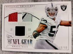 2014 Panini National Treasures Khalil Mack Rookie NFL Gear Triple Materials #3