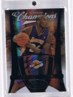 2009 Panini Certified Kobe Bryant Autograph