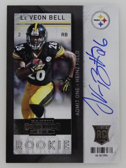 2013   LeVeon Bell Contenders RPS Variation Ticket Auto