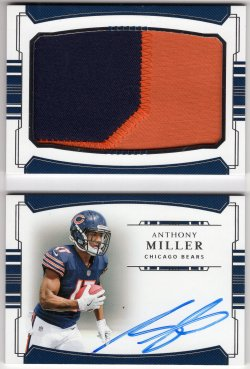 2018 Playoff National Treasures Anthony Miller Rookie Prime Signatures Booklet Vertical Variation