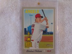 2019 Topps Heritage Shohei Ohtani SP Gold Cup