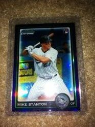 2010 Bowman Chrome Mike Stanton Purple refractor