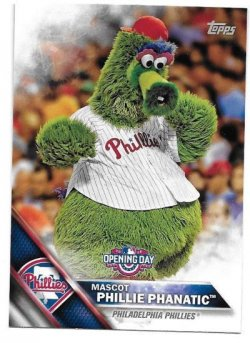 2016 Topps Opening Day Phillie Phanatic