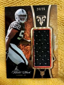 2014 Topps Triple Threads Khalil Mack Rookie Jumbo Relic Gold Parallel