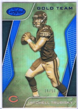 2017 Panini Certified Mitchell Trubisky Gold Team Blue