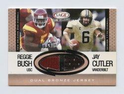 2006 SAGE Game Exclusive Oversized Jersey Combos Bronze #CS3 Reggie Bush/Jay Cutler