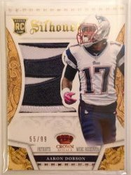 2013 Panini Crown Royale Aaron Dobson RC Silhouette Team Logo Patch