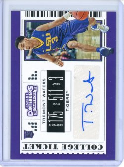 2019-20 Panini Contenders Draft Picks Tremont Waters Auto