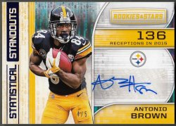 2018  R&S Statistical Standouts Signatures Blue Antonio Brown
