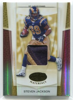 2007 Leaf Certified Materials Steven Jackson Mirror Gold Materials