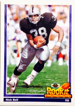 1991 Upper Deck Rookie Force Nick Bell