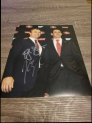 John Lynch / Kyle Shanahan 8x10 Photo IP Autographs