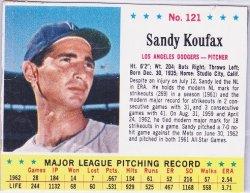 1963  Post Sandy Koufax