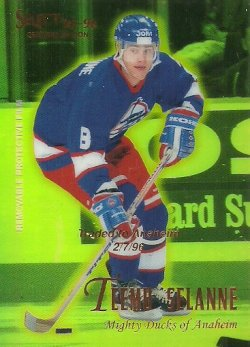 1995/96  Pinnacle Select Certified Mirror Gold Selanne